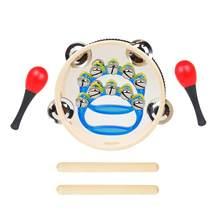 Juego de 5 unidades de instrumentos musicales para niños, conjunto de instrumentos musicales, juguetes educativos para niños, clavícula, pandereta, Maracas