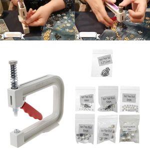 Image 3 - Máquina de rebordear Manual, tapa de ropa, remache de cuentas de perlas, artesanía para la reparación DIY, herramientas para el cabello, sombrero de punto de encaje