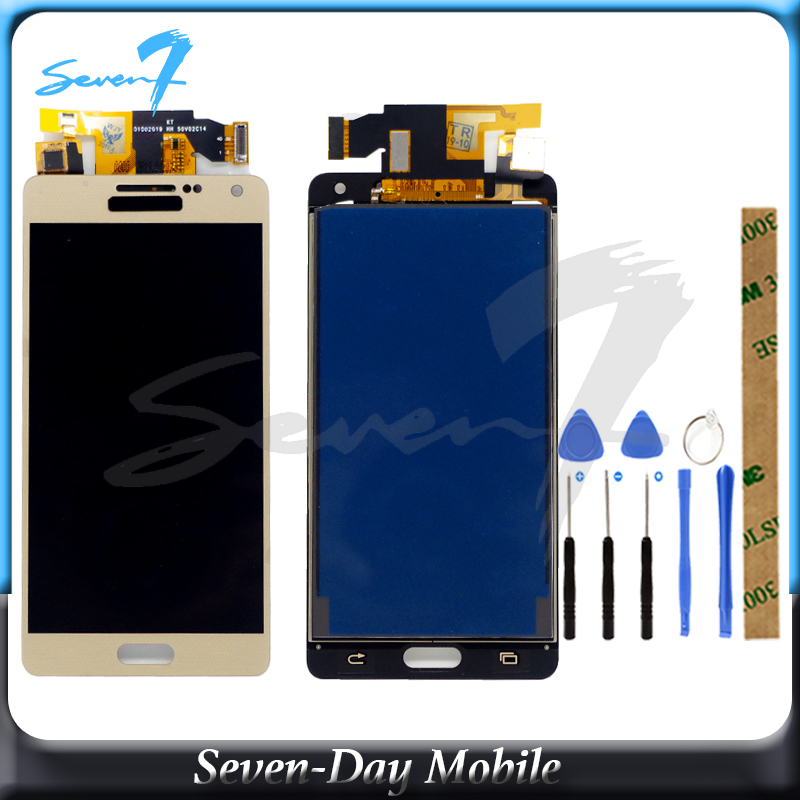 TFT New Tested <font><b>LCD</b></font> Display For <font><b>SAMSUNG</b></font> Galaxy A5 2015 <font><b>A500</b></font> A500F A500FU A500H A500M <font><b>LCD</b></font> Display Digitizer Assembly Replacement image