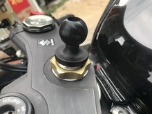 Camera Support Easy Install Hollowed Out Ball Head Mount Phone Holder Practical DIY Fork Stem Base Motorcycle Rubber Bicycle