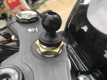 カメラサポート簡単インストール中空アウトボールヘッドマウント電話ホルダー実用 DIY フォーク幹ベースオートバイゴム自転車