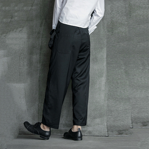 Image 4 - [EAM] High Waist Black Pocket Suit Long Trousers New Loose Fit Pants Women Fashion Tide All match Spring Autumn 2020 1B209