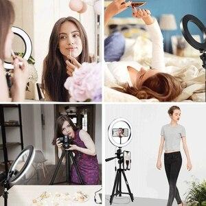 Image 5 - Selfie Ring Lamp Led Ring Light Selfie For Youtube Phone Holder With Tripod Ring For Photography Lighting Selfie Phone Video