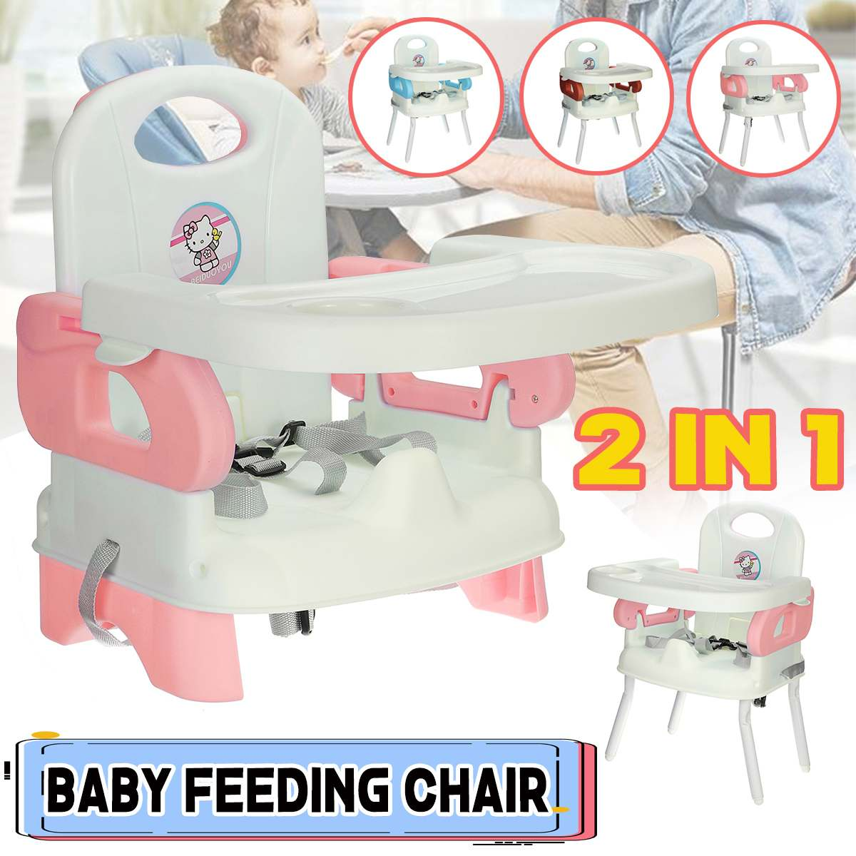 Feeding Chair High Chair Baby Chair Booster Seat Children Adjustable Foldable Chair Kids Highchair Seat Baby Eating Seats