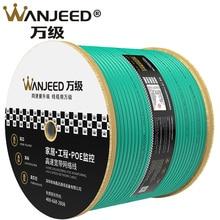 Wanjeed cat6a rede lan cabo 10g s/ftp duplo blindado cabo ethernet de alta velocidade 305m