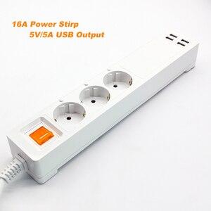 Image 2 - 電源ストリップ無線lanスマートプラグhomekit 3 euソケットサージ保護リモートコントロールコンセント2メートル延長コードの独立したスイッチ