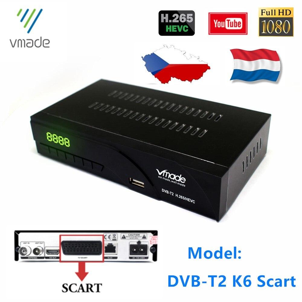 Hot Sale Czech Republic DVB-T2 TV Decoder HEVC H.265 TV Tuner HD1080p Support YouTube DVB T2 Dolby AC3 Digital Set Top Box Tuner