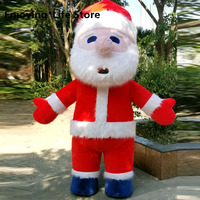 2M 3M Easter Santa Claus Mask Inflatable Costume for Christmas Props Cosplay Halloween Costumes Men Adult Adult Costume Santa