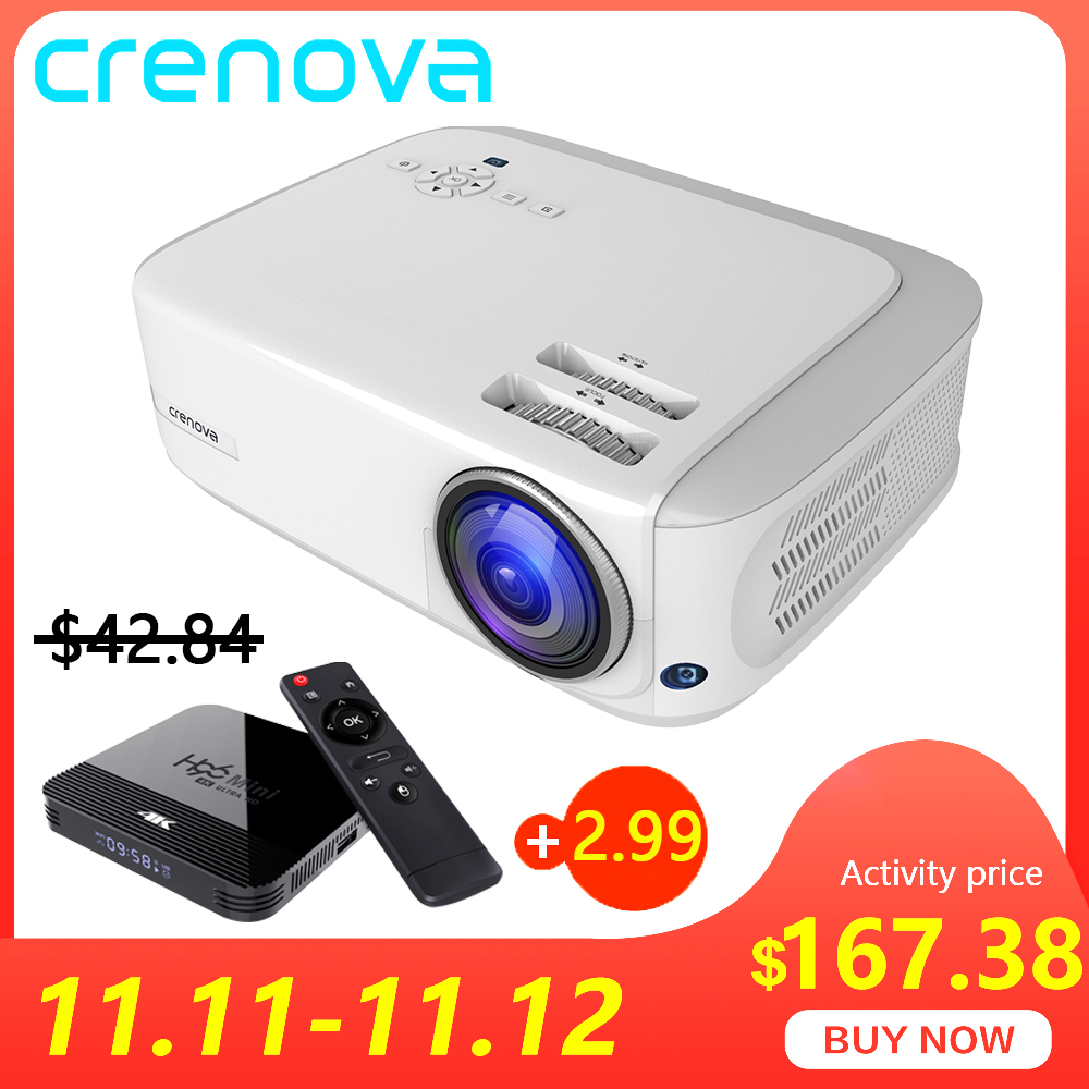CRENOVA 2019 Newest 6000 Lumens Android 7.1OS Video Projector Support 4K Dolby Video Home Cinema Movie Beamer, Optional (2G 16G)-in LCD Projectors from Consumer Electronics