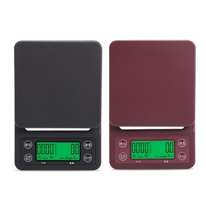 Image 4 - 5kg/0.1g Mini Digital Electronic Kitchen Scales Libra with Timer Barista Coffee Scale Table Cooking Food Scales for The Kitchen
