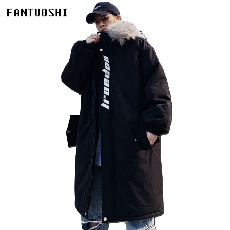 Men's Winter Jacket And Coats 2019 New Fashion Slim-fit Casual Thick Warm Long Hooded Parka Waterproof Jacket Big Size 5XL