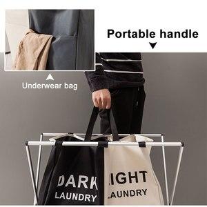 Image 4 - Katlanır çamaşır sepeti organizatör kirli giysiler çamaşır sepeti büyük sıralayıcısı İki veya üç ızgaraları katlanabilir katlanır sepet