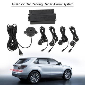 Samochód Auto czujniki parkowania wyświetlacz Parktronic 4 czujniki rewers Backup pomoc wykrywacz radarów światła Monitor systemu regulowany tanie i dobre opinie KKMOON Niewidoczne Parking Radar Chiński (uproszczony) Angielski 0 3m-2 0m electromagnetic English -30-80℃ 8 7 * 7 9 * 2 8in