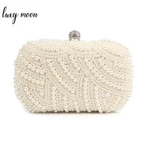 Image 1 - פרל מצמד שקיות נשים ארנק גבירותיי לבן יד שקיות ערב שקיות עבור מסיבת חתונה שחור כתף תיק Bolsa Feminina