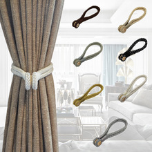 1Piece Magnetic Curtain Tieback Handmade Curtains Holder Clips Buckle Straps Curtain Accessories Wood Tie Backs Home Decorations