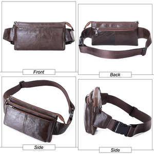 Image 4 - MISFITS cow leather waist bag for men travel waist pack vintage small fanny pack male belt pouch bag casual cell phone chest bag