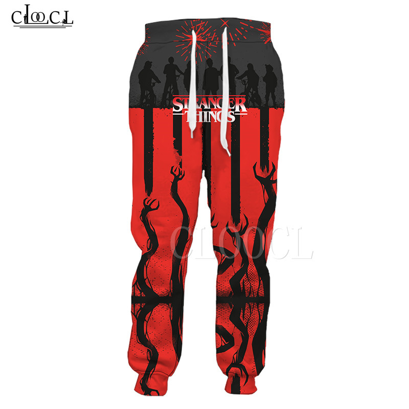 Stranger Things Thriller 3D Pants Casual Men Women Gym Sport Pants Trousers Fashion Popular Trend Comfortable Mens Hip Hop Pants