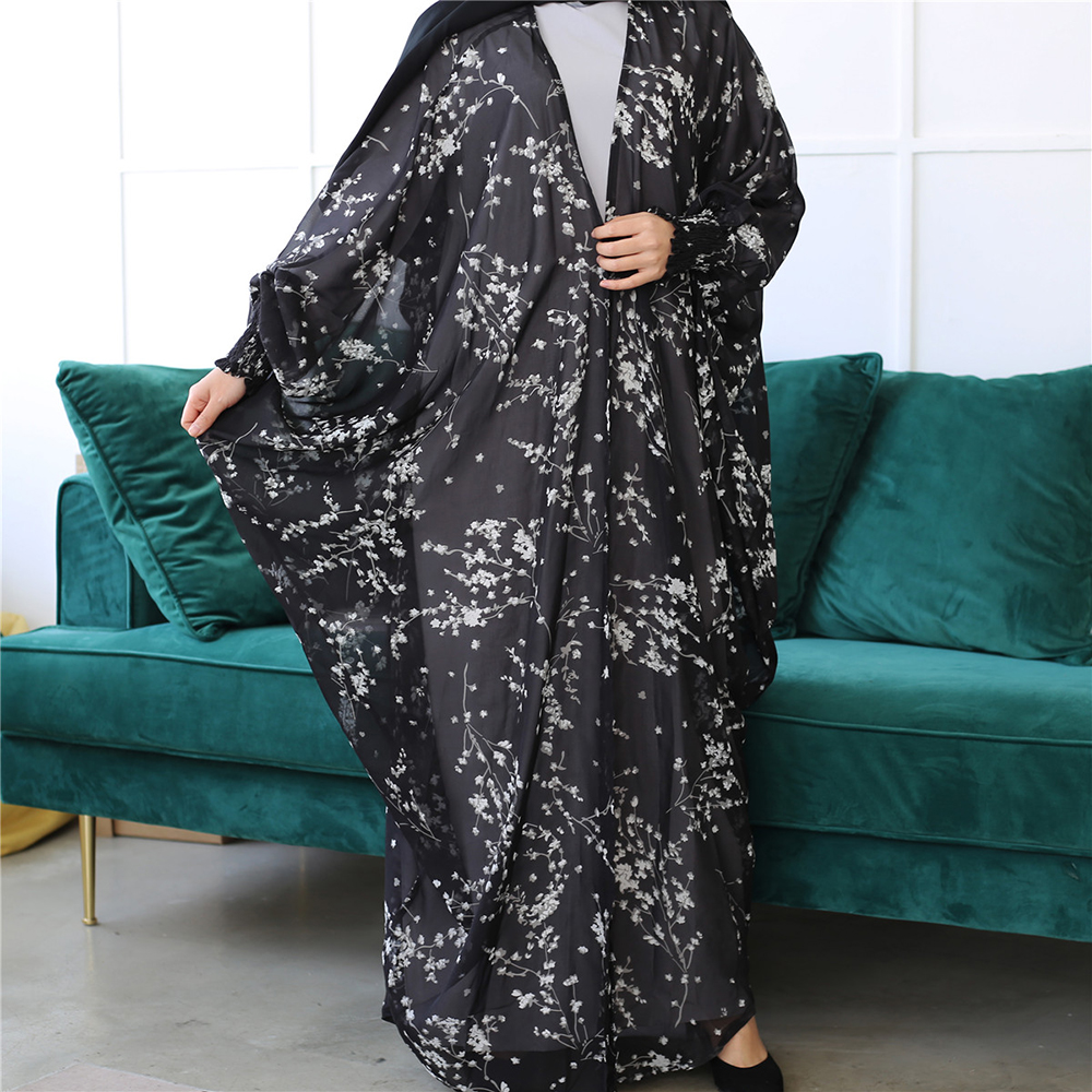 Ramadan Eid Mubarak Butterfly Abaya Dubai Kaftan Kimono Mujer Cardigan Hijab Muslim Dress Turkish Islamic Clothing For Women