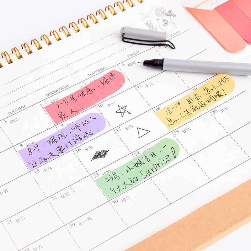 120 Pages dégradé couleur bloc-Notes signets bureau fournitures scolaires papeterie Notes autocollantes planificateur étiquette autocollants livraison gratuite
