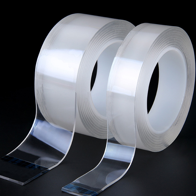 1/3/5M Reusable Transparent Non-marking Nano Double-sided Tape Washable Strong Adsorption Waterproof Magic Stickers