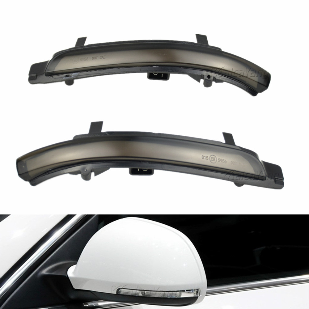 Dynamic Indicator Blinker Car <font><b>LED</b></font> Side Wing Mirror Flowing Turn Signal Light For <font><b>Skoda</b></font> <font><b>Octavia</b></font> 2009 <font><b>2010</b></font> 2011 2012 2013 image