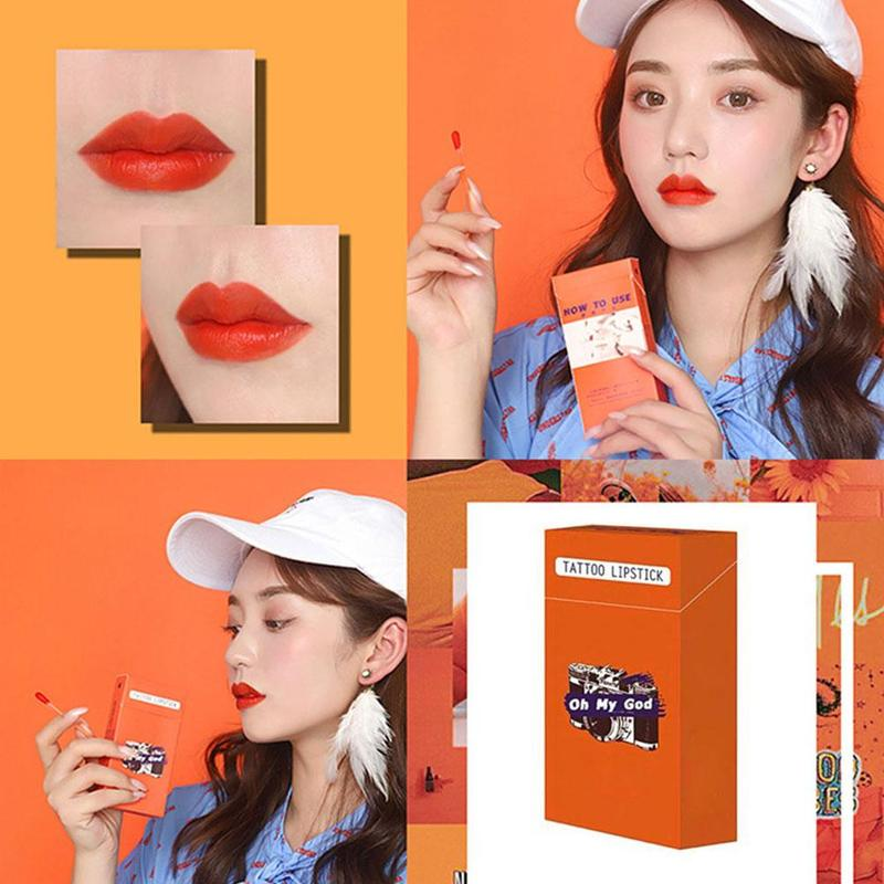 Lipstick Swab Cigarette-Case Disposable-Brushes Long-Lasting Waterproof 20pcs/Set