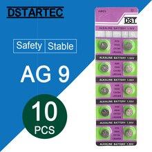 цена на 10pcs/card 30mAh 1.55V AG 9 AG9 LR936 394 SR936SW CX194 LR45 Button Batteries For Watch Toys Remote etc; Cell Coin Battery