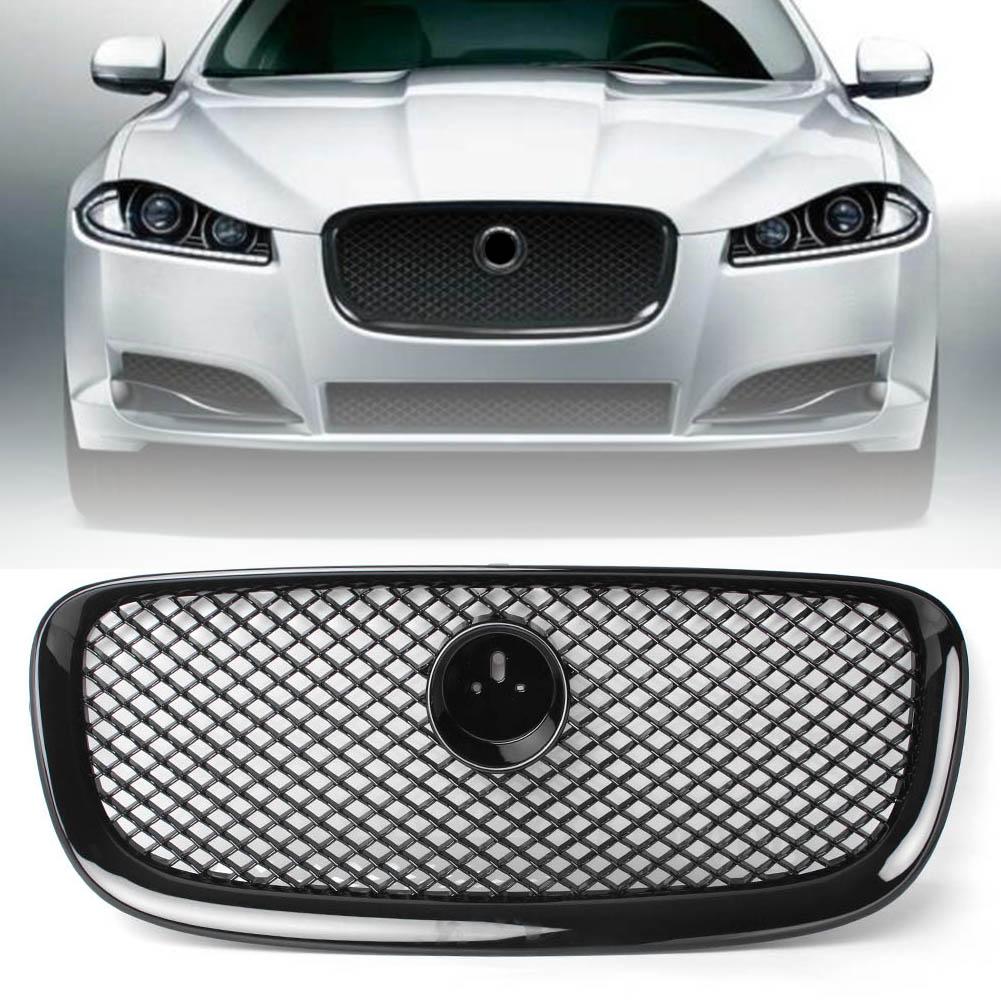 Chrome Frame Upper Grill Grille For Jaguar XF 12-15 XFR 2012 2013 2014 2015 XF-R