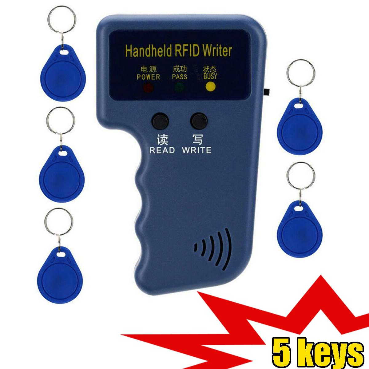 Handheld 125KHz RFID Copier Writer Portable Programmer Reader Support EM4305 T5577 5200 Copy Keychain And Identification Tag