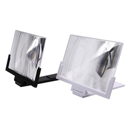 Nowy 1pc 14 cal komórkowy 3D obiektyw ekran kinowy powiększyć 3X lupa składany statyw podstawka pod telefon do telefonów komórkowych uniwersalny z tworzywa sztucznego Obiektywy do telefonów komórkowych    -