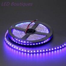 Bande lumineuse UV, 5 m/rouleau 600 LED blanc/blanc chaud, bleu, vert, rouge, jaune, 3528 120led s/m, SMD, ruban déclairage flexible LED