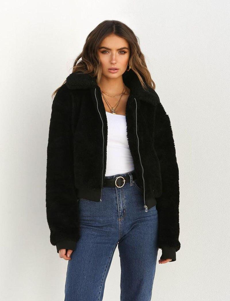 H368c09518c5146e3afdb13cc28e68c6cH Fashion New Zip Up Punk Oversize Outwear Coats With Pockets Winter Women Warm Teddy Bear Long Sleeve Fleece Jackets Crop Tops