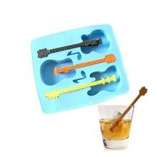 Модная летняя форма для льда, поднос для питья, форма для льда, гитара, новинка, подарки, форма для кубиков льда с поддоном, кухонные инструменты для льда