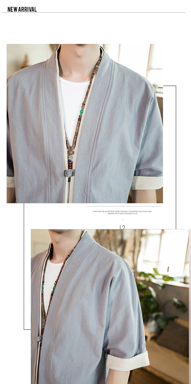 Sinicism Store Men Patchwork Shirt Streetwear Short Sleeve 19 Summer Harajuku Vintage Kimono Shirts Black Fashion Open Stitch 35