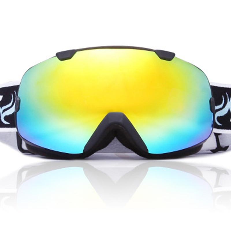 Lunettes de Ski sphériques Anti-buée Protection Double couches grandes lentilles lunettes hommes femmes lunettes de neige Ski UV400 Snowboard lunettes - 4