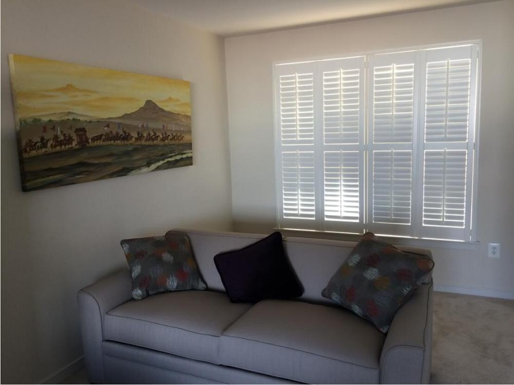 Custom Basswood Plantation Shutters Wooden Blinds Solid Wood Shutter Louvers PS246
