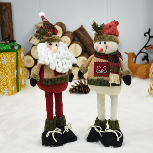 Santa Claus Dolls New Year Birthday Gifts for Friend Lovers Family Christmas Decorations for Home Retractable Standing Toy