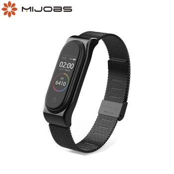 Correa Mi Band 5 Correa para Xiaomi Mi Band 4 pulsera NFC Global Mi Band 3 Correa reloj inteligente pulsera de Metal Accesorios