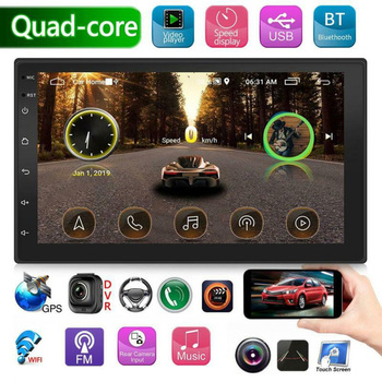 12V Android 7inch 2Din Quad Core Car Stereo Radio GPS Navigation MP5 Player FM WiFi Multimedia Universal Auto Stereo MAP