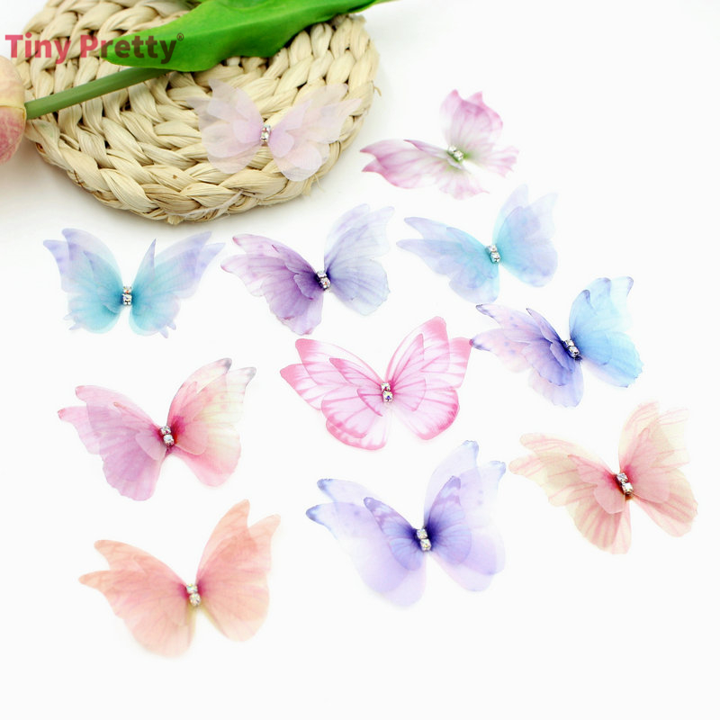 Butterfly Gradient Organza Ethereal Color DIY Craft Jewelry Making Embellishment