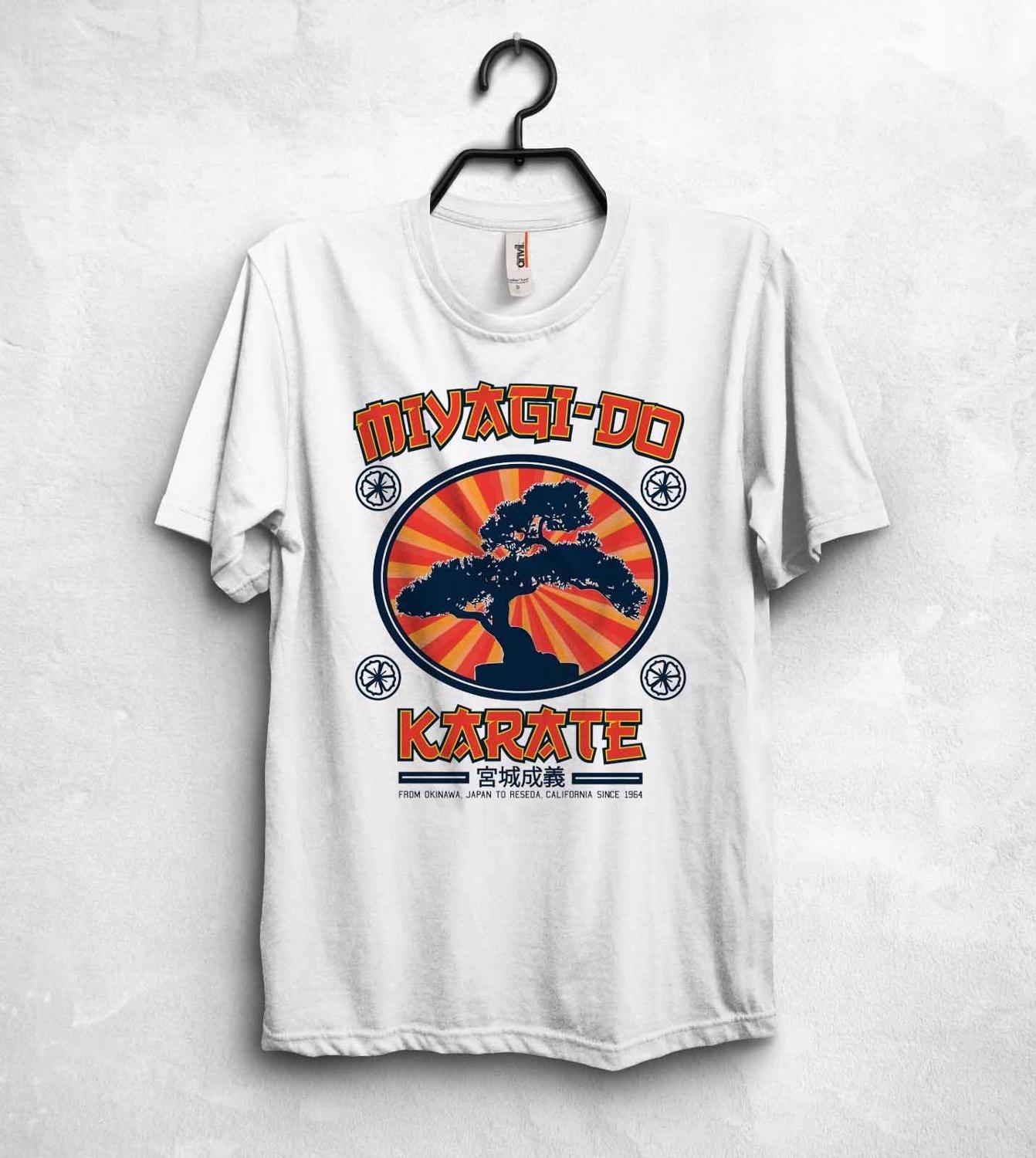 New Fashion Brand Clothing Miyagi Do Karate Dojo T Shirt Top Kensuke Miyagi Karate Kid Movie Jackie Chan custom t shirts image