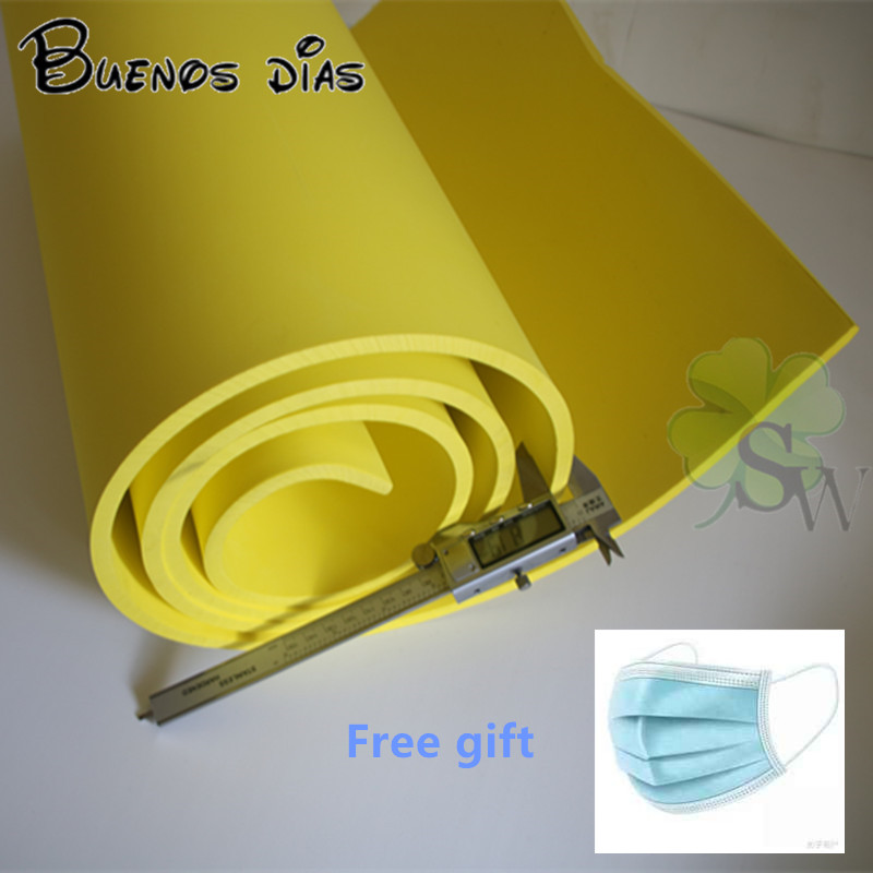 50cm*2m /lot Yellow Color 5mm / 10mm Eva Foam Craft Sheets,Easy To Cut,Handmade Cosplay Material