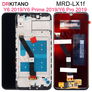 Image 1 - עבור HUAWEI Y6 2019 LCD תצוגת Y6 פרו 2019 Digitizer פנל מסך מגע עבור Huawei Y6 ראש 2019 תצוגה עם מסגרת MRD LX1f LX3