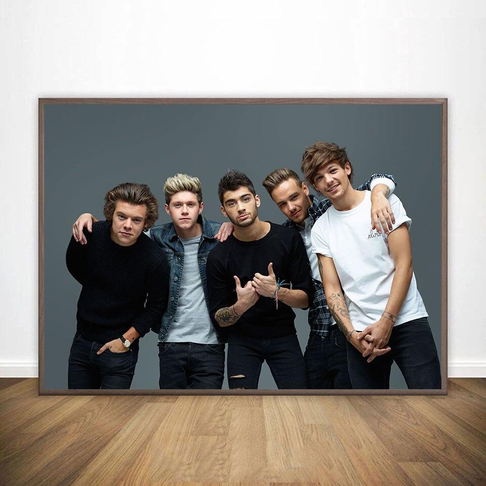 One Direction plakat na płótnie malarstwo plakaty i dekoracje charakter obrazy na płótnie z nadrukiem obraz ścienny dekoracje ścienne do domu