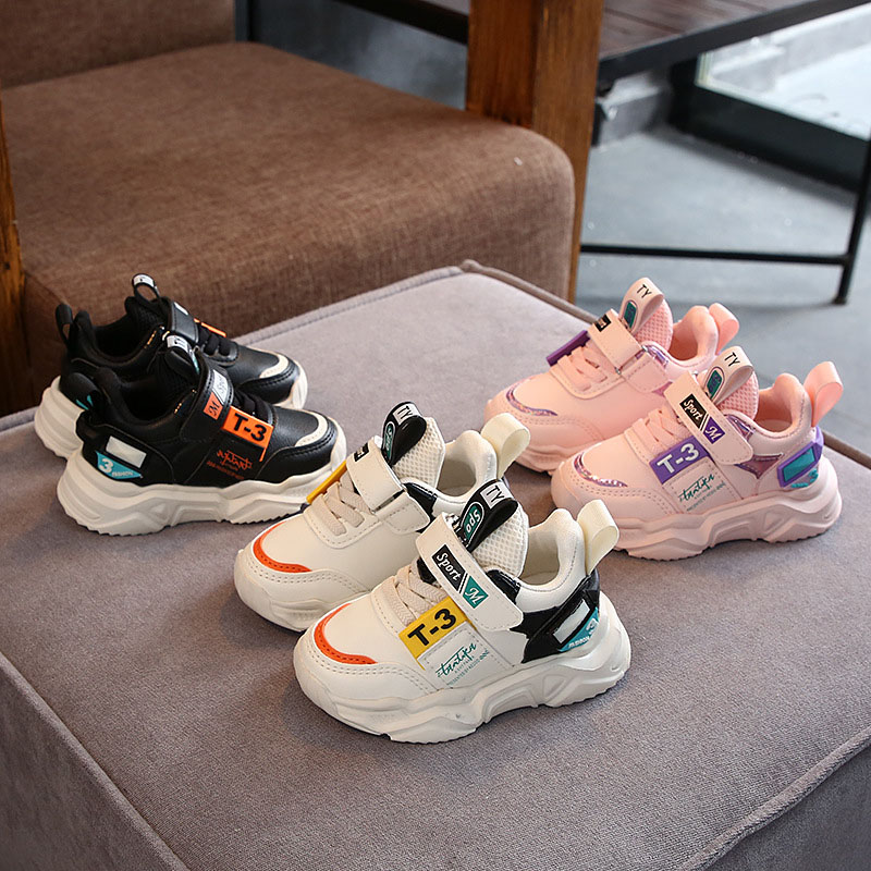 Artificial Leather Comfortable Fashion Baby Sneakers Shoes Autumn Winter Boys And Girls Sports Toddler Sneakers Shoes For Baby