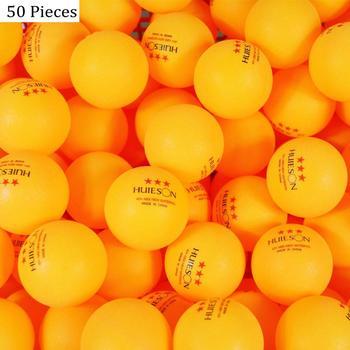 Huieson 30 50 100 english new material table tennis balls 3 star 40+ abs plastic ping pong balls table tennis training balls