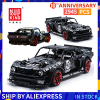 Mould King Ford Building Blocks Mustang Hoonicorn Constructor Remote Control Racing Blocks Car Technic Bricks Toys For Kids Gift