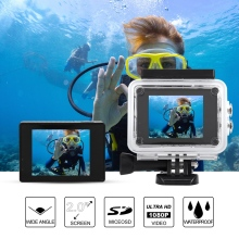 2.0'' Dual Screen 1080P 4K HD WiFi Sports DV Action Video Recording Camera with Remote Control G Underwater Waterproof Camera цена 2017