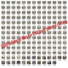 2000 Metalen Deur Huis Tuin Decor Sheet Dxf Formaat 2d Vector Ontwerp Tekening Voor Cnc Laser Plasma Snijden Bestanden Collection