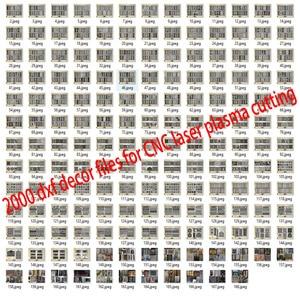 Image 1 - 2000 باب معدني ديكور المنزل حديقة ورقة dxf تنسيق 2d ناقلات تصميم الرسم لجمع ملفات القطع البلازما بالليزر باستخدام الحاسب الآلي